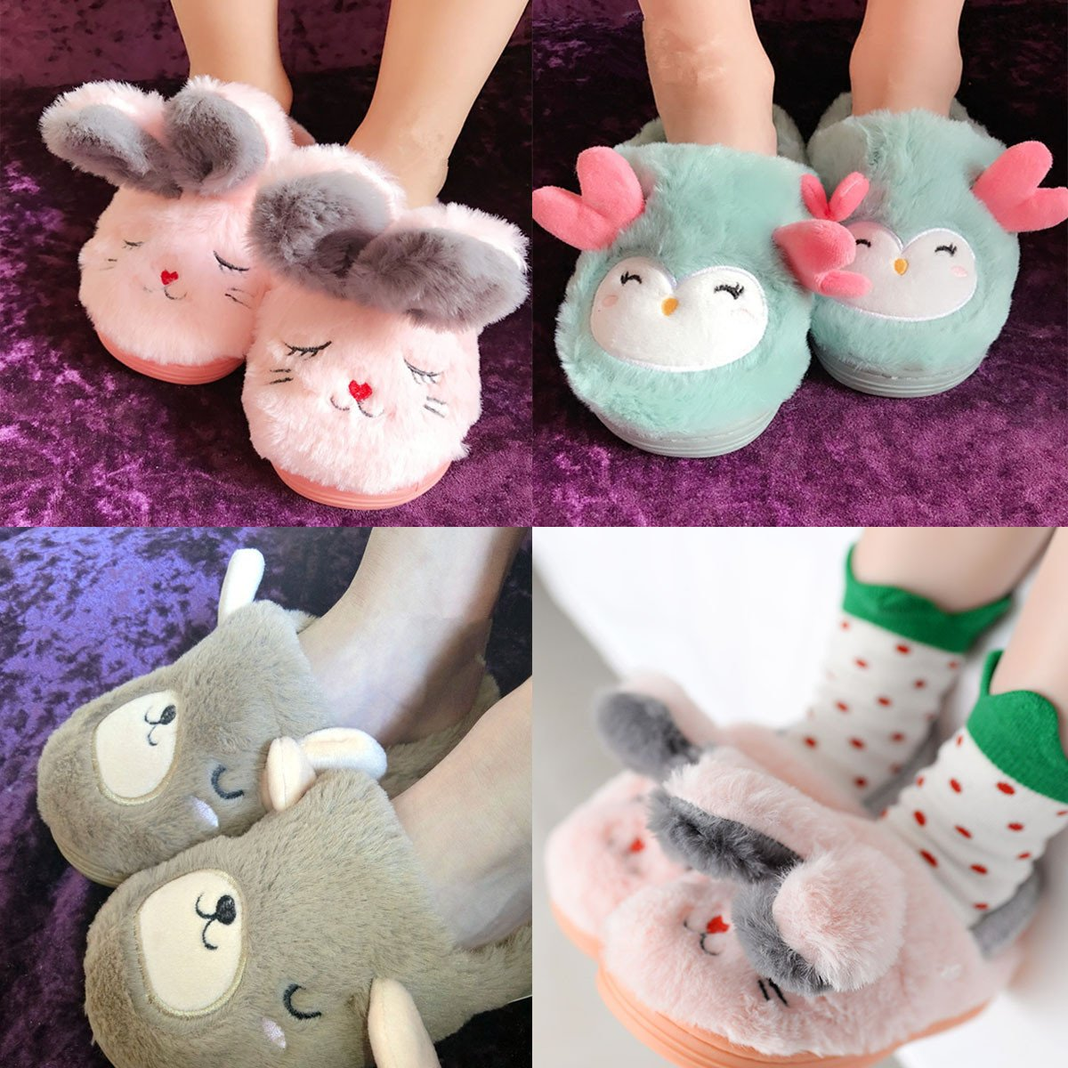 Toddler Girls Boys Slipper Shoes For Kids Cute Cartoon Warm Winter Non-Slip Bedroom Indoor House Slipper Comfort Home Shoes