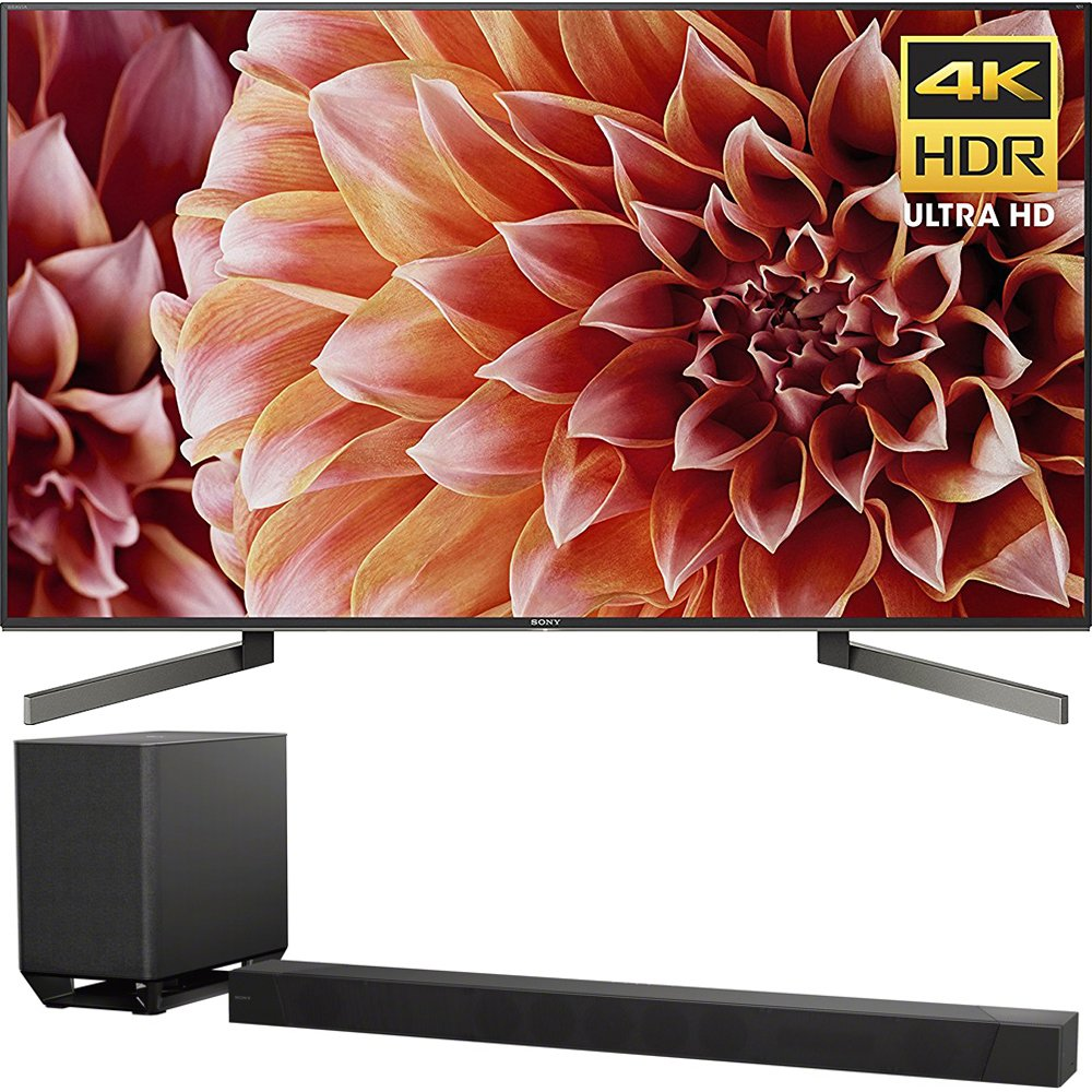 "Sony Bravia XBR55X900F 55"" 4K HDR HLG and Dolby Vision UHD TV 3840x2160 & Sony HTST5000 7.1.2Ch 4K HDR Compatible 800W Dolby Atmos Soundbar"