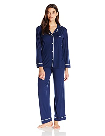 90719aaace Eberjey Women s Gisele Two-Piece Long Sleeve   Pant Pajama Sleepwear ...