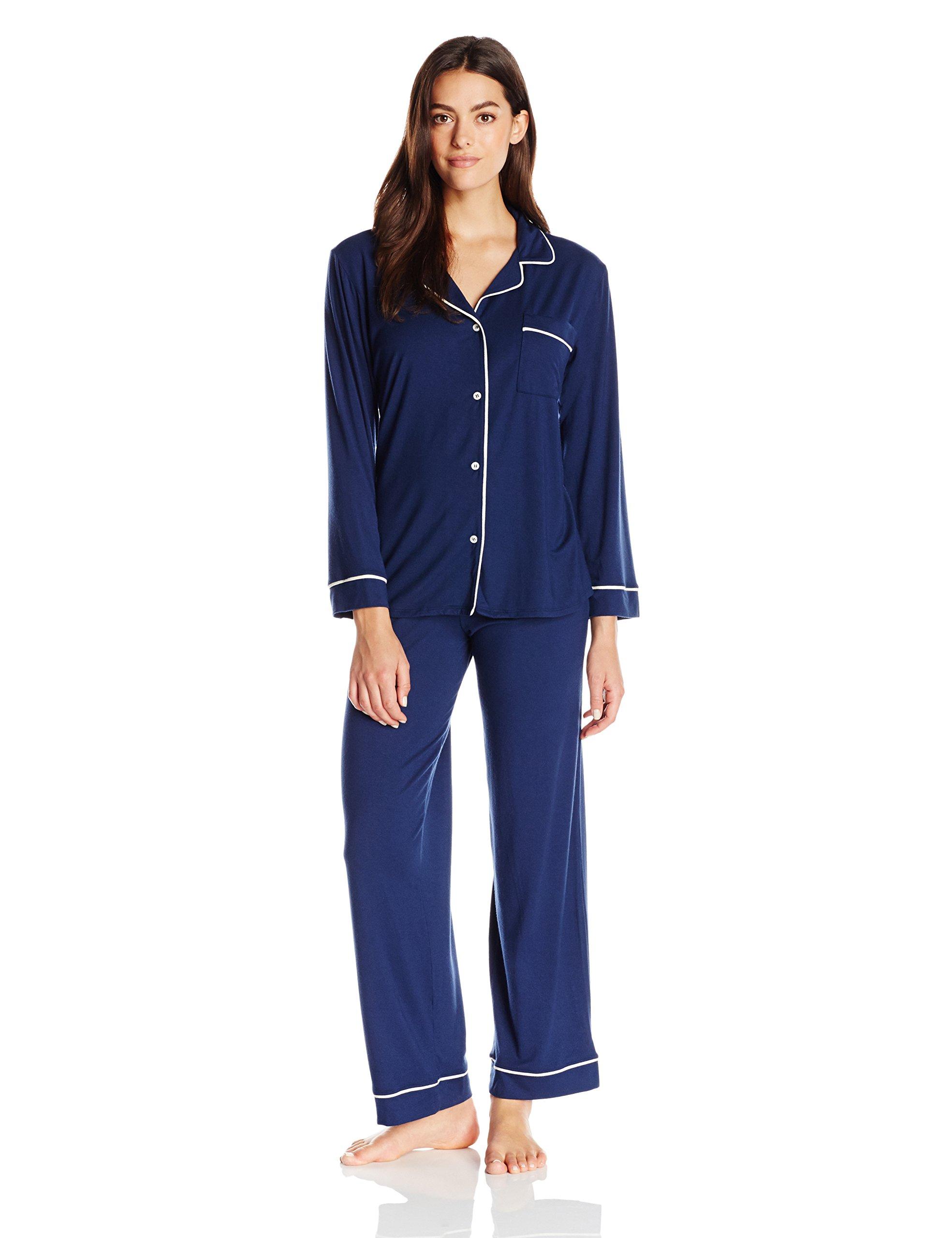eberjey Women's Gisele Pajama, Navy/Ivory, Large