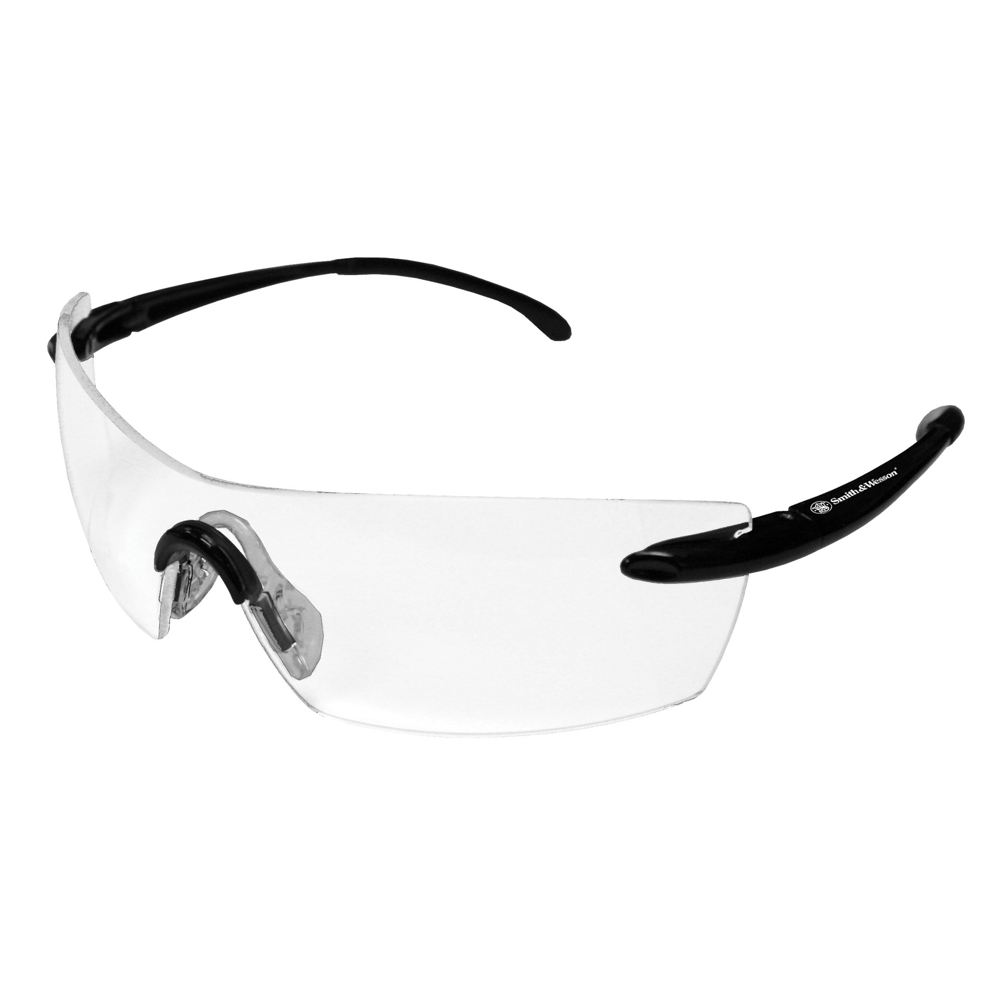 Smith & Wesson Caliber Safety Glasses (23006), Black Frame, Clear Anti-Fog Lens, 12 Pairs / Case