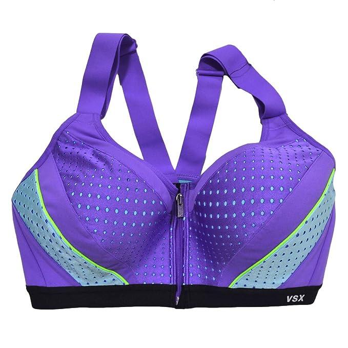 Victorias Secret - Sujetador deportivo para mujer, cierre frontal - -