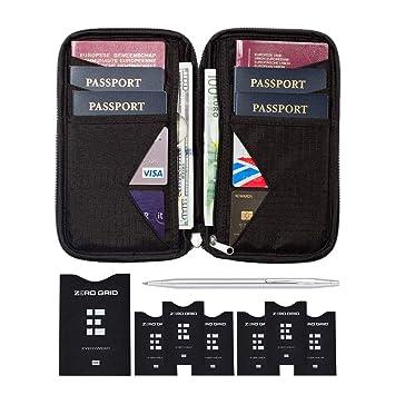 Portefeuille de Voyage et Porte-Passeport Familial avec Blindage RFID - Étui  Organisateur de Documents f04b9420990