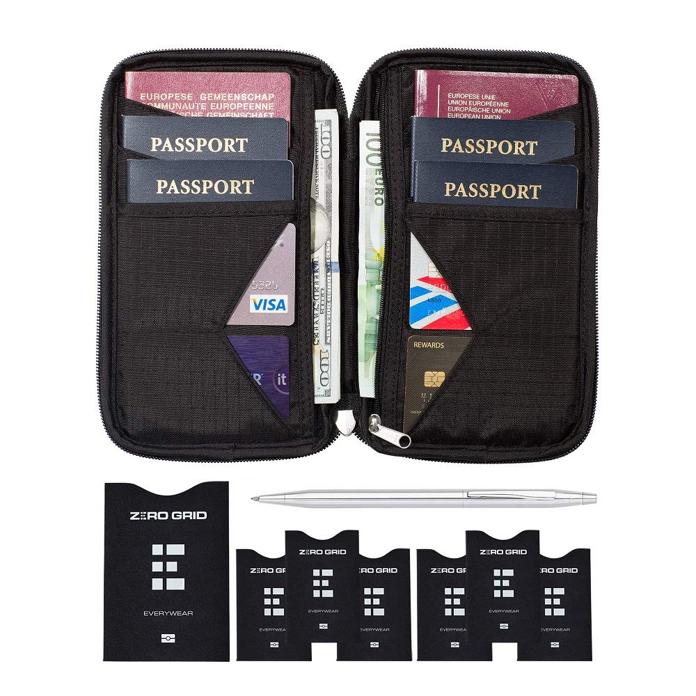 Portadocumentos para Viajes – Cartera de Viaje para Documentos – Porta Pasaportes Familiar con Bloqueo RFID