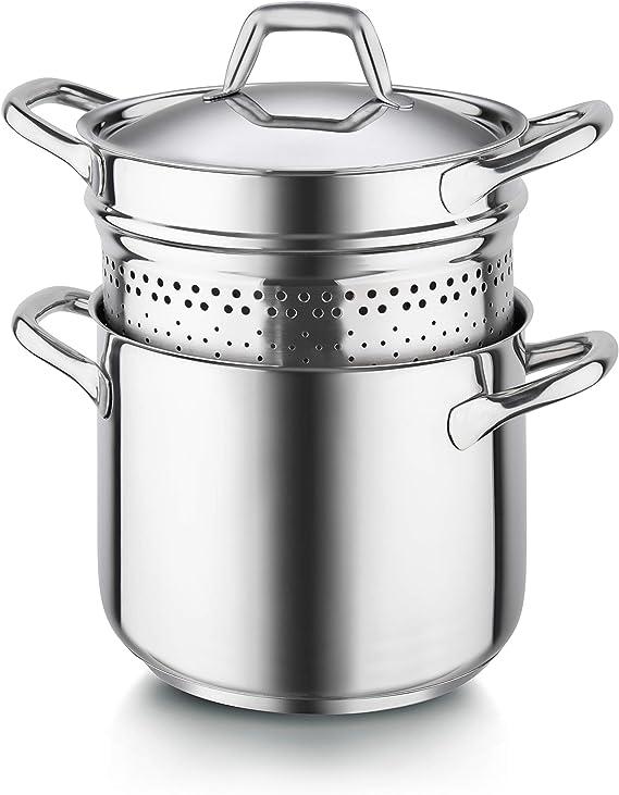 Barazzoni Chef Line spaghettiere Chef Line 22 cm, Acero Inoxidable ...