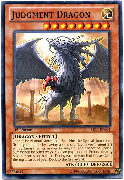 Yu-Gi-Oh! - Judgment Dragon (SDLI-EN004) - Structure Deck: Realm of Light -  1st Edition - Common
