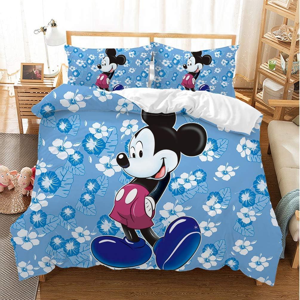 DCWE Housse de Couette Mickey Minnie et Mickey de Saint-Valentin Amour SI Bien quen Amour Housse de Couette 10,135x200cm 100/% Polyester 2//3pi/èces