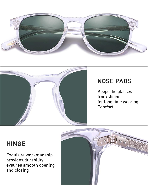 Carfia Retro Rotondi Occhiali da Sole da Uomo Donna Polarizzati UV400 Protezione