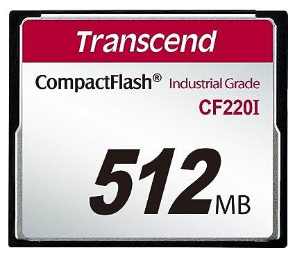 Transcend 512MB CF Memoria Flash 0,512 GB CompactFlash - Tarjeta de Memoria (0,512 GB, CompactFlash, 40 MB/s, Negro)