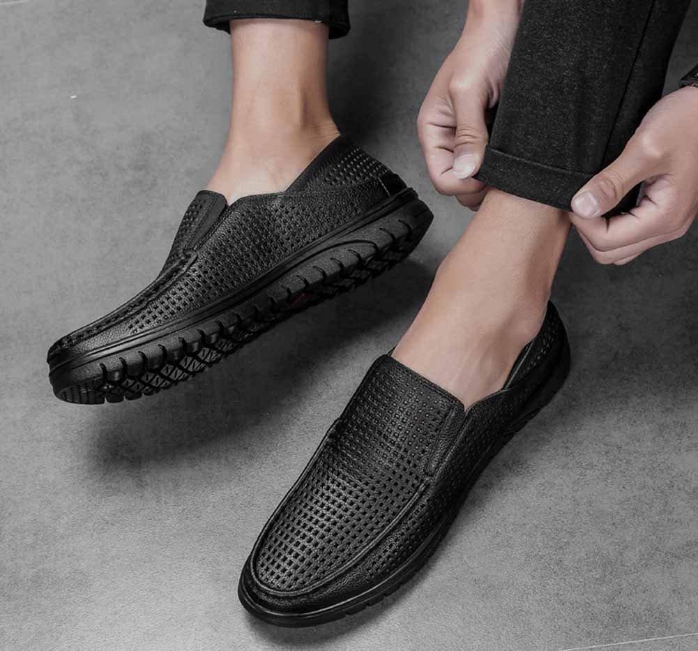 GLSHI Männer Hohlen Schuhe Schuhe Schuhe Sommer Neue Breathable beiläufige Geschäft Schnürung Schuhe Ledersandalen 18b332
