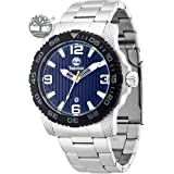 Timberland Men's Quartz Watch with Blue Dial Analogue Display and Silver Stainless Steel Strap TBL.13613JSSB/03M