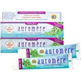 Auromere Ayurvedic Herbal Toothpaste, Mint Free - Vegan, Natural, Non GMO, Flouride Free, Gluten Free, with Neem & Peelu (4.1