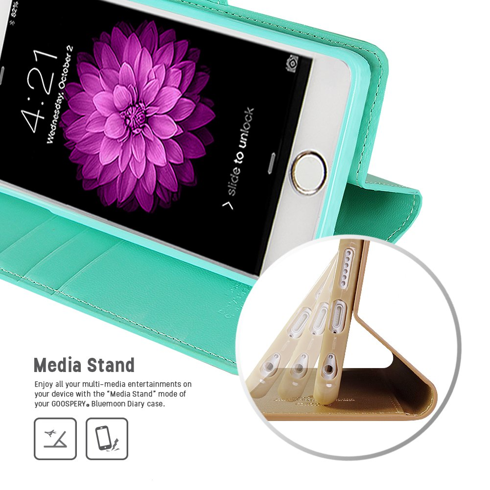 Iphone 6s 6 Case Drop Protection Goospery Blue Moon 8 Plus Flip Hotpink Diary Wallet Smooth Synthetic Leather Texture Id Card Cash Slot W Stand
