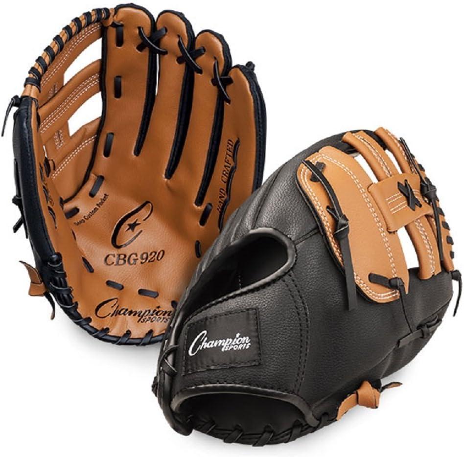 Champion Sports Leather Front Vinyl Back Fielders Glove