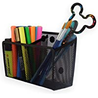Magnetic Pencil Holder Organizer - Perfect for Locker Refrigerator Whiteboard Office Fridge - Metal Mesh Pen Cup for…
