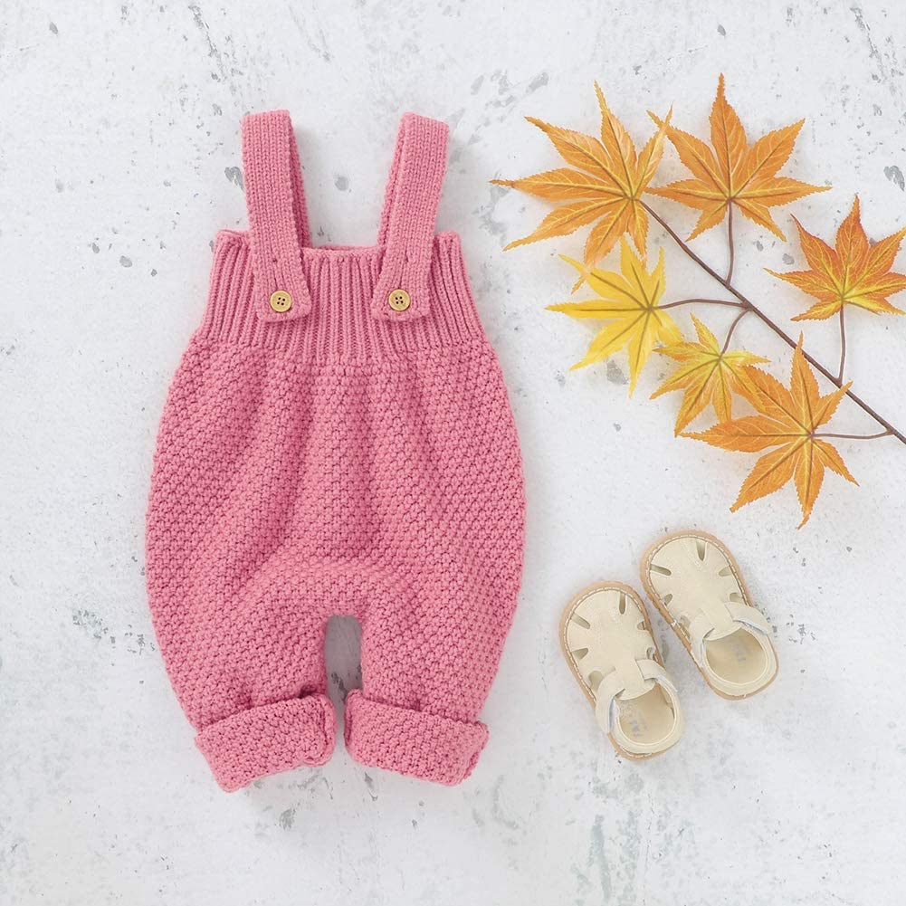 URMAGIC Baby Boy Girl Knitted Clothes Baby Sleeveless Bodysuit Winter One-Pieces Romper Jumpsuit Clothes