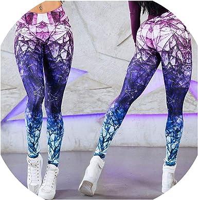 Johoo-leggings Leggins sexys de Cintura Alta para Yoga, para Mujer, Deportivos, para Fitness, Entrenamiento, Correr, Fitness - Azul - X-Large: Amazon.es: Ropa y accesorios