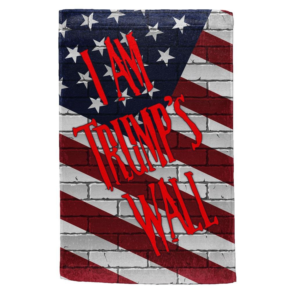 Old Glory Election 2016 I Am Donald Trump's Border Wall Hand Towel Multi Standard One Size