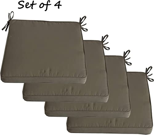 INDOOR OUTDOOR SEAT CUSHION BOXED AND WELT 18X18X2.5 IN SUNBRELLA SET OF 4 20 X 20 X 2.5, TAUPE