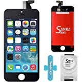 SANKA Retina LCD Digitizer Touch Screen Display Glass Replacement Frame Assembly for iPhone 4S-Black
