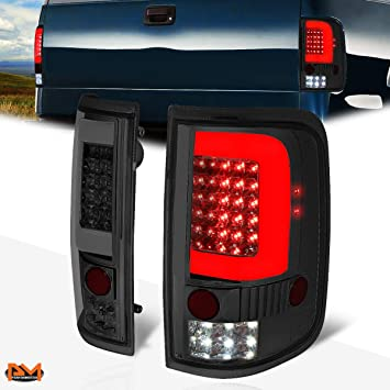 Compatible with Ford F-150/Lobo 04-08 3D LED C-Tube Bar Tail Light Reverse/Stop Lamp Smoked