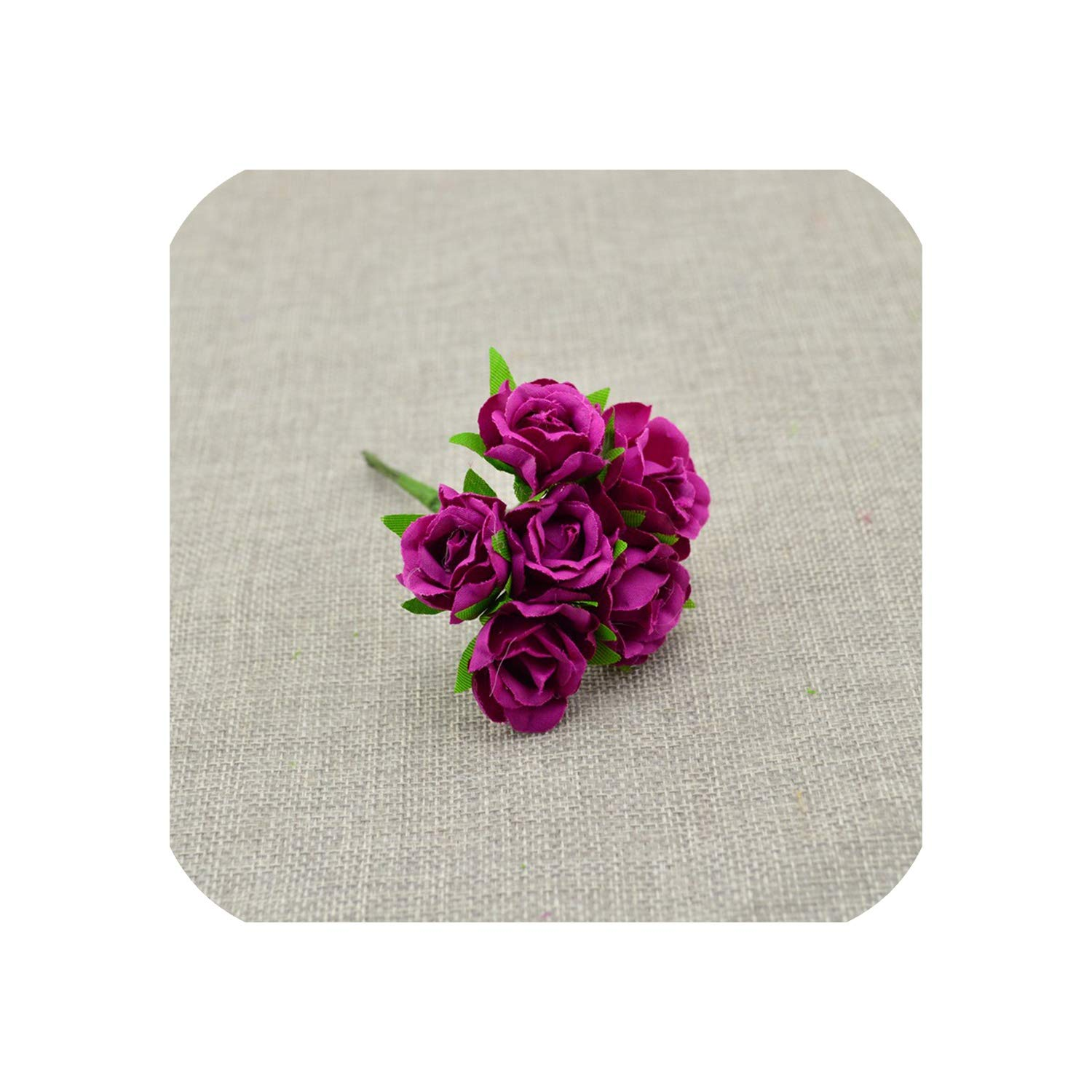 April-With-You-6pcs-Silk-Flower-Wedding-car-Bridal-Bouquet-Roses-Artificial-Flower-for-Decoration-Scrapbooking-DIY-Wreaths-Craft-Candy-Gift-BoxPurple-red