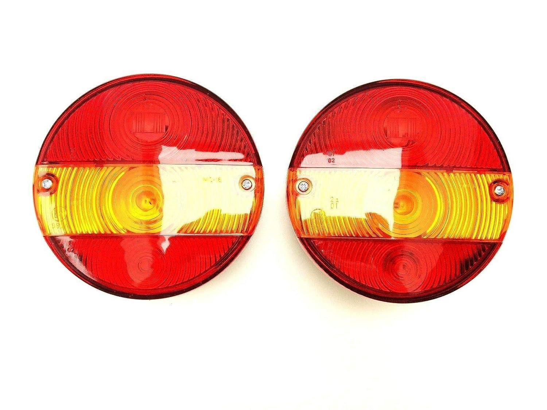 remolque cami/ón Luz trasera redonda con luz intermitente para tractor