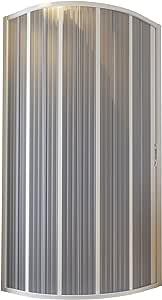 Cabina de ducha fuelle semicircular 90-70 x 90-70 reducible ...