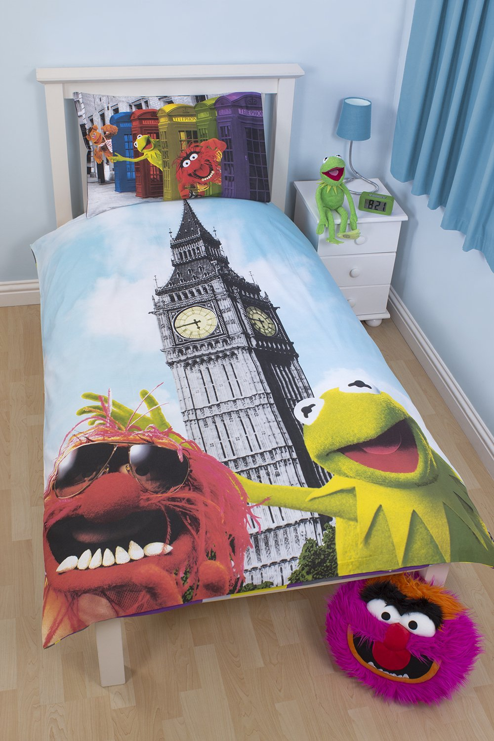 Character World 135 x 200 cm Disney Muppets Postcard Single Panel Duvet Set DMU-PST-DS1-MSCx-06SP