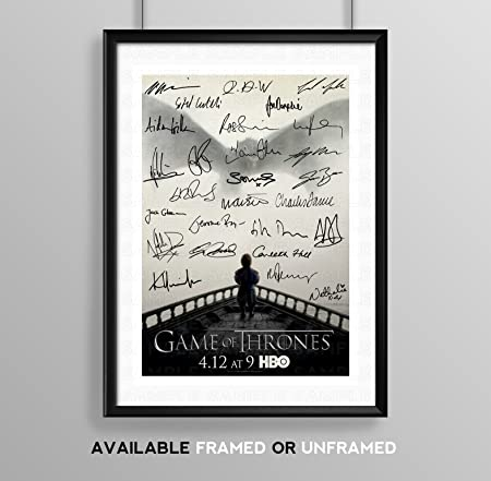 Game Of Thrones Full Cast Signed Autograph Signature A4 Poster Photo ...