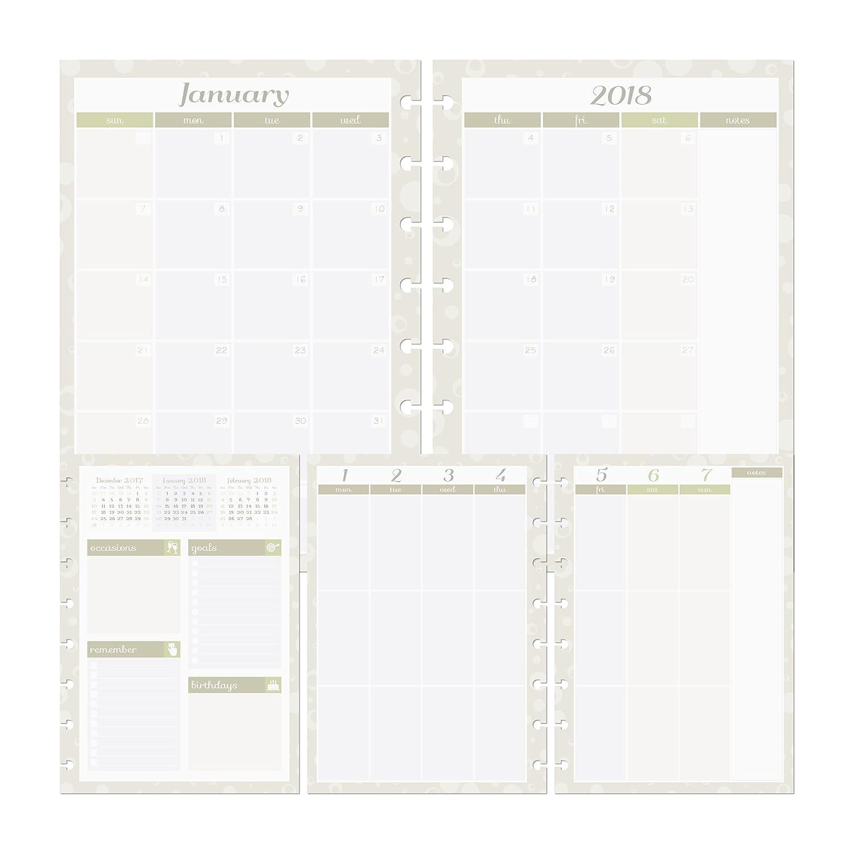 Discagenda Transcend 2018 Planner Planner Planner Organizer (Discbound, A5) B0775SV5DV   Bequeme Berührung  74144e