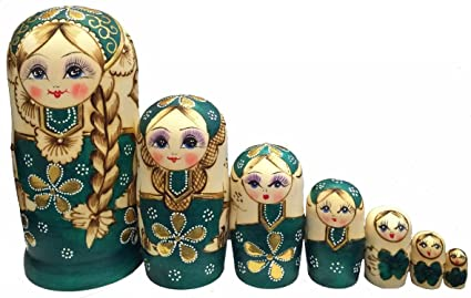 1 Set Russian Nesting Wooden Wishing Doll Russian Nesting Wooden Doll
