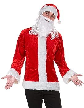 Generique - Kit Disfraz Papá Noel con Barba Adulto L: Amazon.es ...