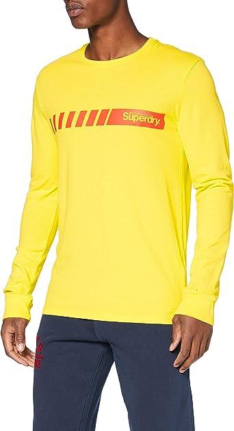 Superdry Core Logo Sport Stripe Top Camisa Manga Larga para Hombre: Amazon.es: Ropa y accesorios