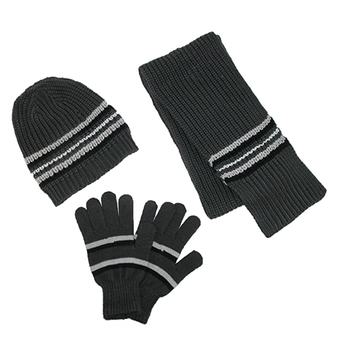 64e67d765f2 CTM® Men s Knit Hat Gloves and Scarf Winter Set