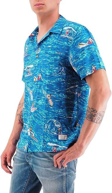 Scotch & Soda | Camisa Hawaii Surf Print Azul | S&S_148924_0217: Amazon.es: Ropa y accesorios