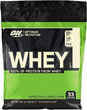 OPTIMUM NUTRITION ON Whey Proteina Isolate, Proteinas Whey en Polvo, Proteina de Suero para Masa Muscular y Musculacion, Bajo en Azúcar, Vainilla, 33 ...