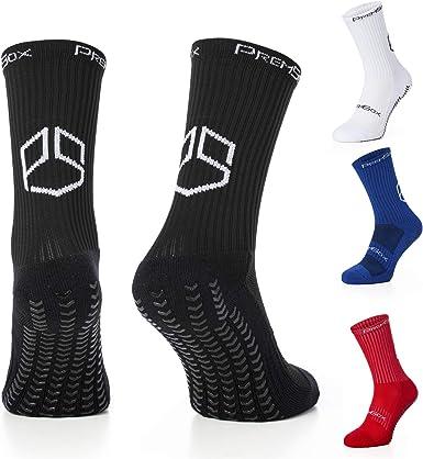 Anti Slip Non Slip Grip Pads Sports Soccer Socks 2//4 Pairs Football Socks
