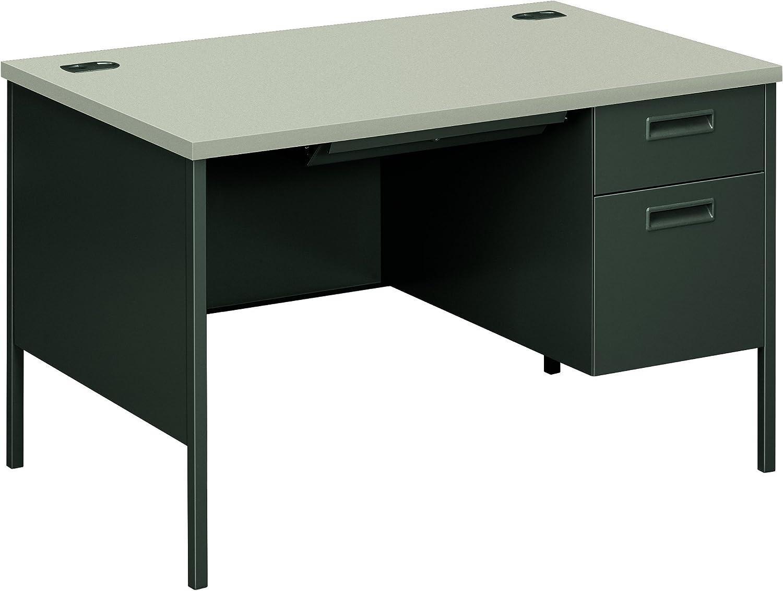 Amazon Com Hon Metro Classic Small Office Desk Right Pedestal Desk With File Drawer 48 W Gray Charcoal Hp3251r Furniture Decor