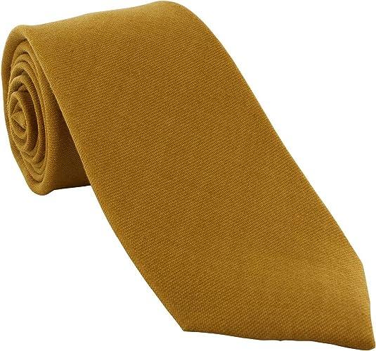 Mostaza Lana de lana corbata de Michelsons of London: Amazon.es ...