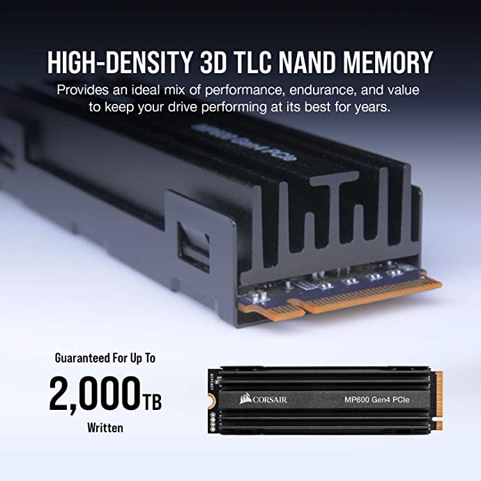 Corsair 美商海盗船 Force系列 MP600 M.2 PCIe4.0 NVMe SSD 固态硬盘 1TB 7.3折$189.99 海淘转运到手约¥1337