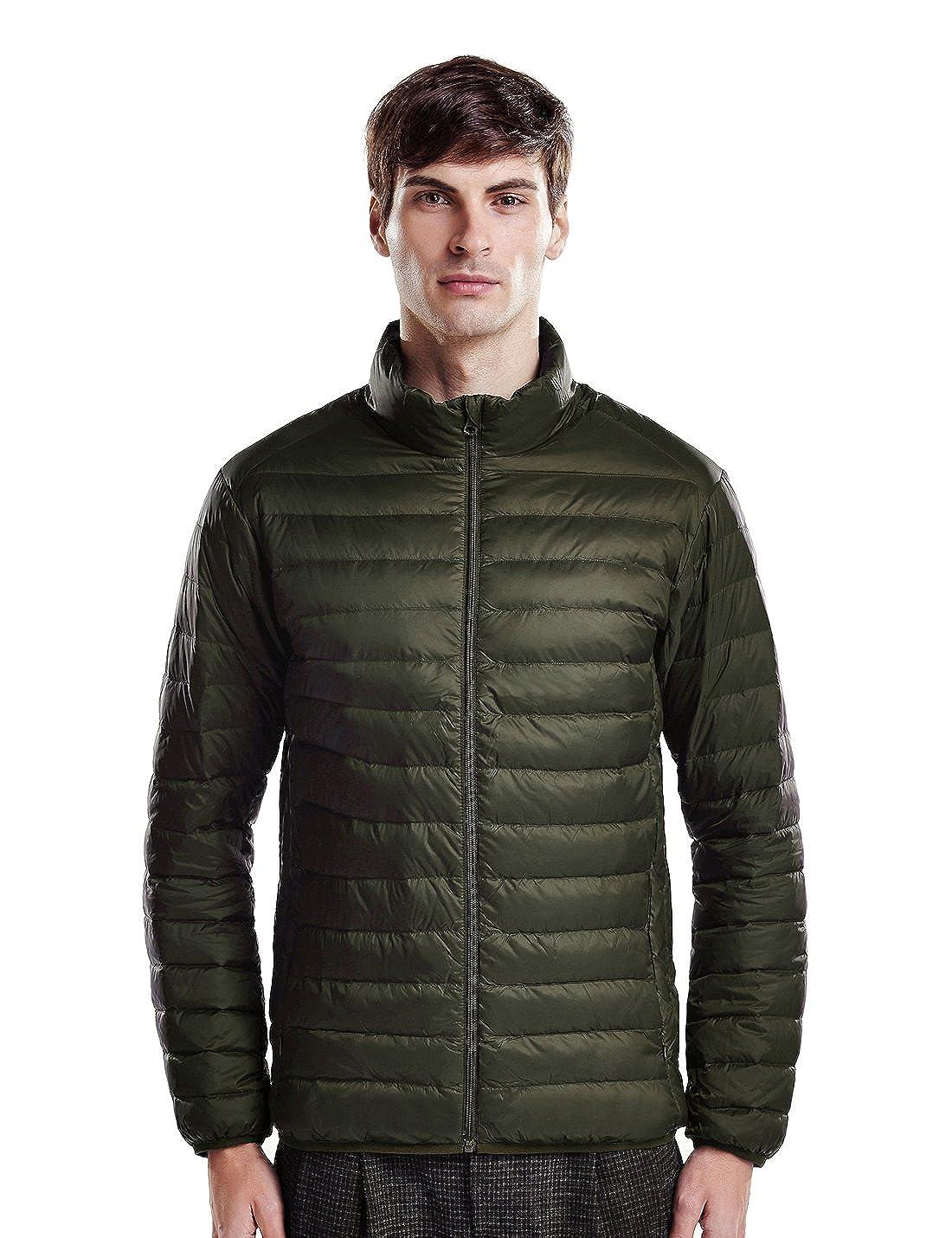 puredown Weatherproof Mens Packable Down Puffer Jacket