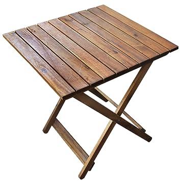 Rustikaler Beistelltisch Aus Holz Ideal Für Balkon Und Camping