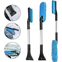 Oziral Multifunctionele ijskrabber voor de auto, 3-in-1 reinigingsborstel, sneeuwborstel, afneembare ijskrabber voor…