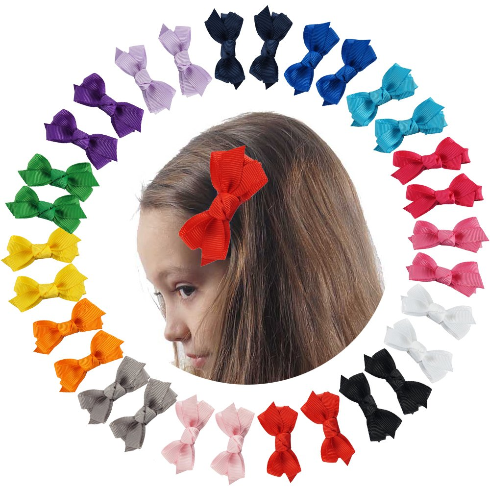 CN Boutique Baby Girls Hair Bows Alligator Clips Grosgrain Ribbon Barrettes For Teens Kids Toddlers 15 Colors 30pcs