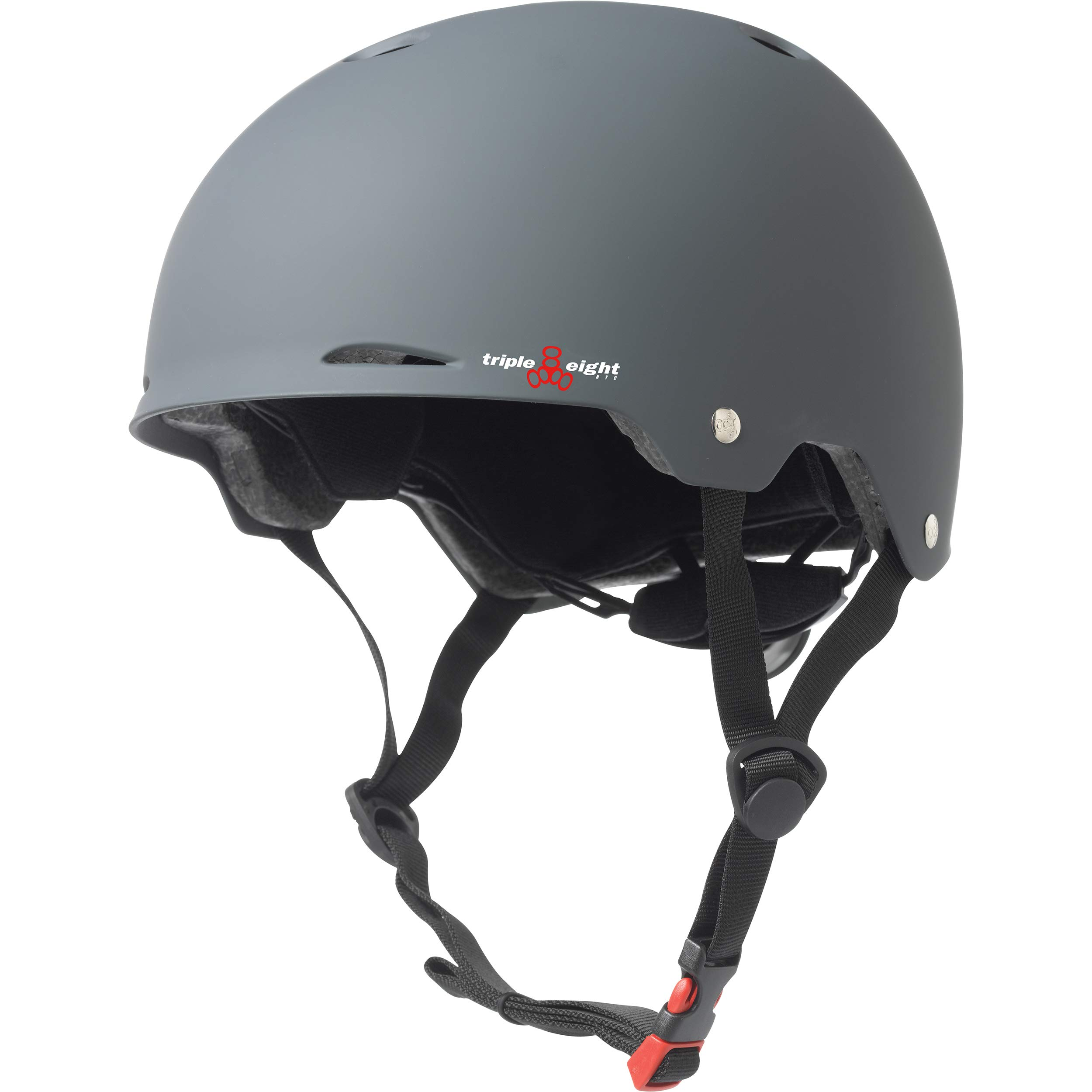 Triple Eight Gotham Dual Certified Skateboard and Bike Helmet, Gun Matte, Large / X-Large