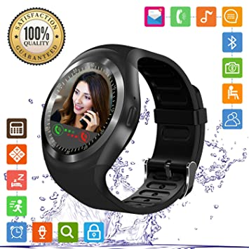 Relojes Inteligentes con Soporte de Pantalla táctil, Tarjeta SIM, podómetro, Compatible con teléfonos Android iOS