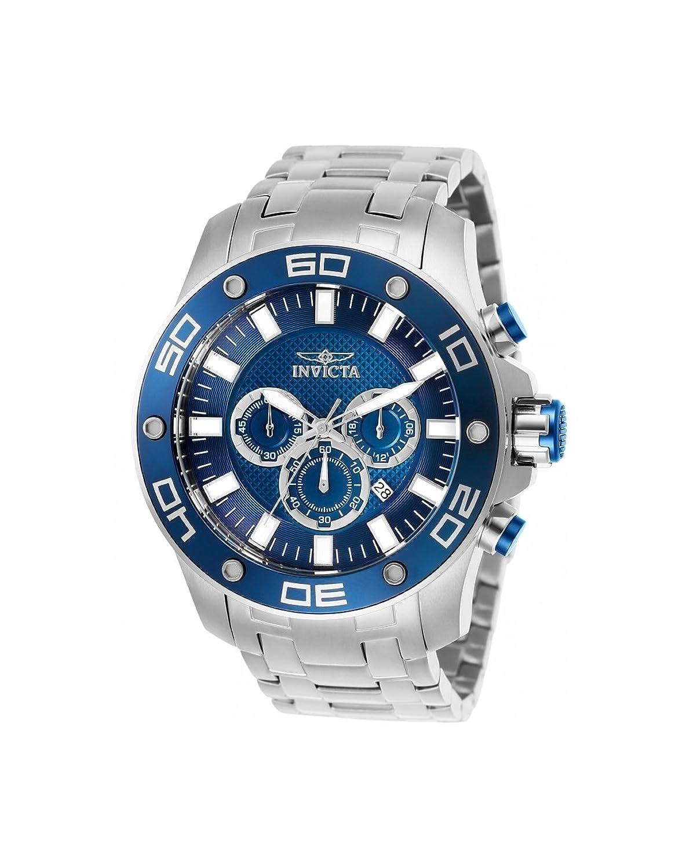 Amazon.com: Invicta Pro Diver Chronograph Blue Dial Mens Watch 26075:  Invicta: Watches