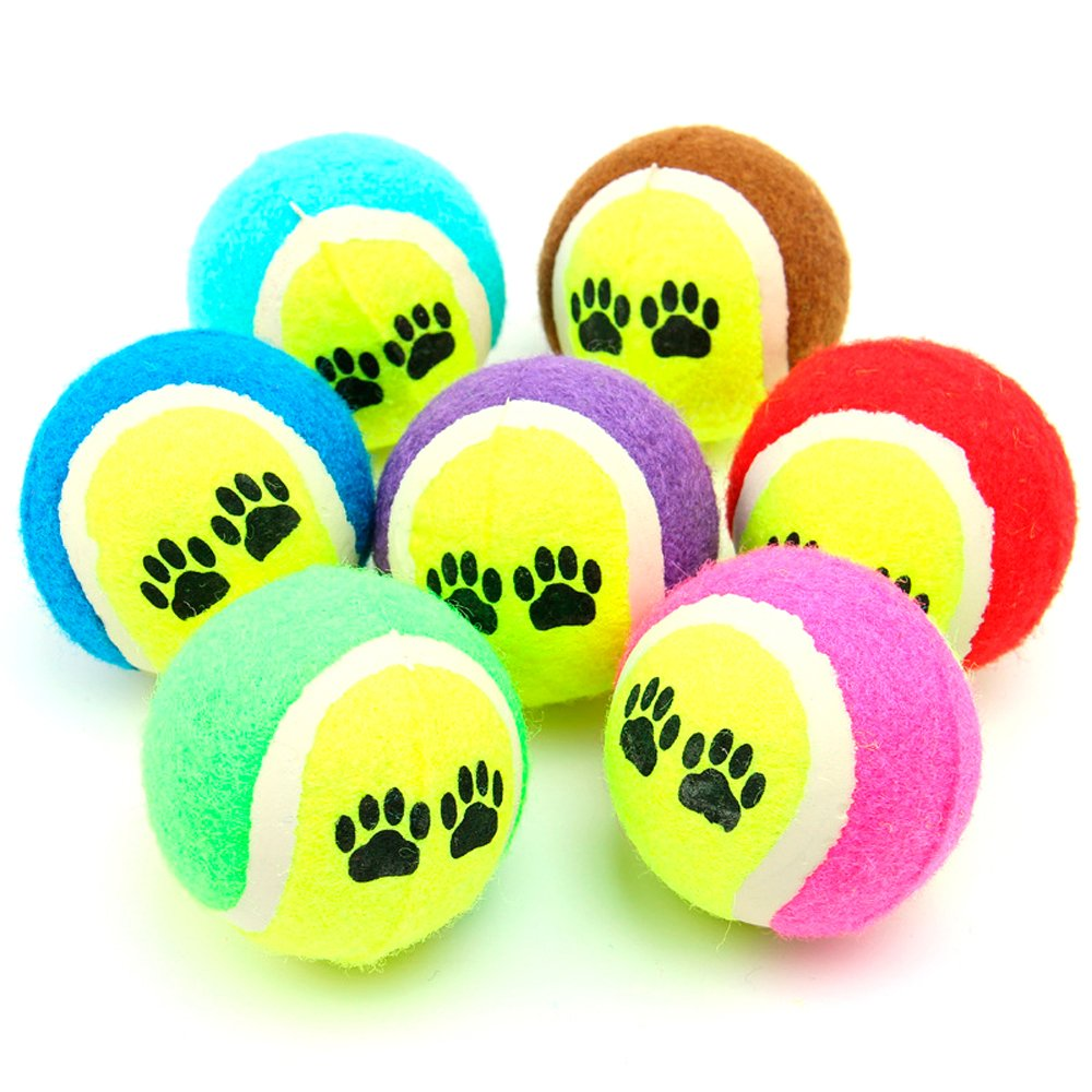 3Pcs Pet Cat Dog Bouncy Chew Tennis Ball Catch Throw Play Outdoor Training Balls Toy Zhi Jin