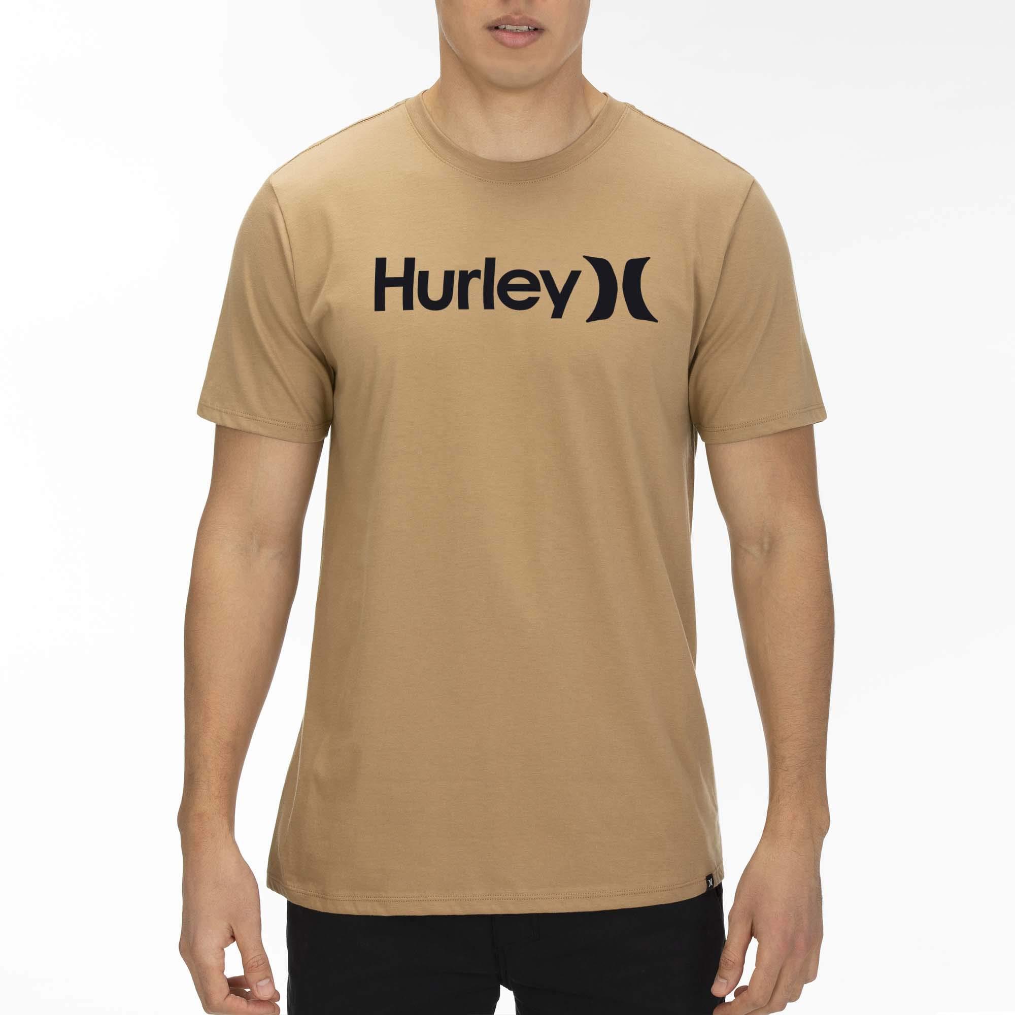 Hurley Men's Premium Short Sleeve Logo Tshirt, BEECHTREE/(Black), S